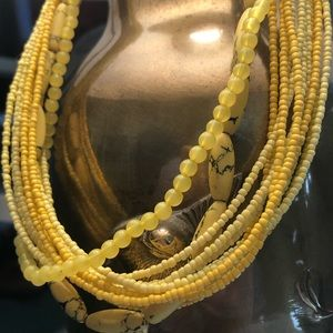 ⚠️YELLOW multi-strand beaded necklace! 💛